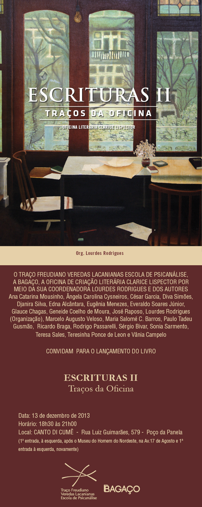 Lançamento Escrituras II - Traços da Oficina